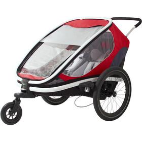 Hamax Outback Bike Trailer red/grey/black
